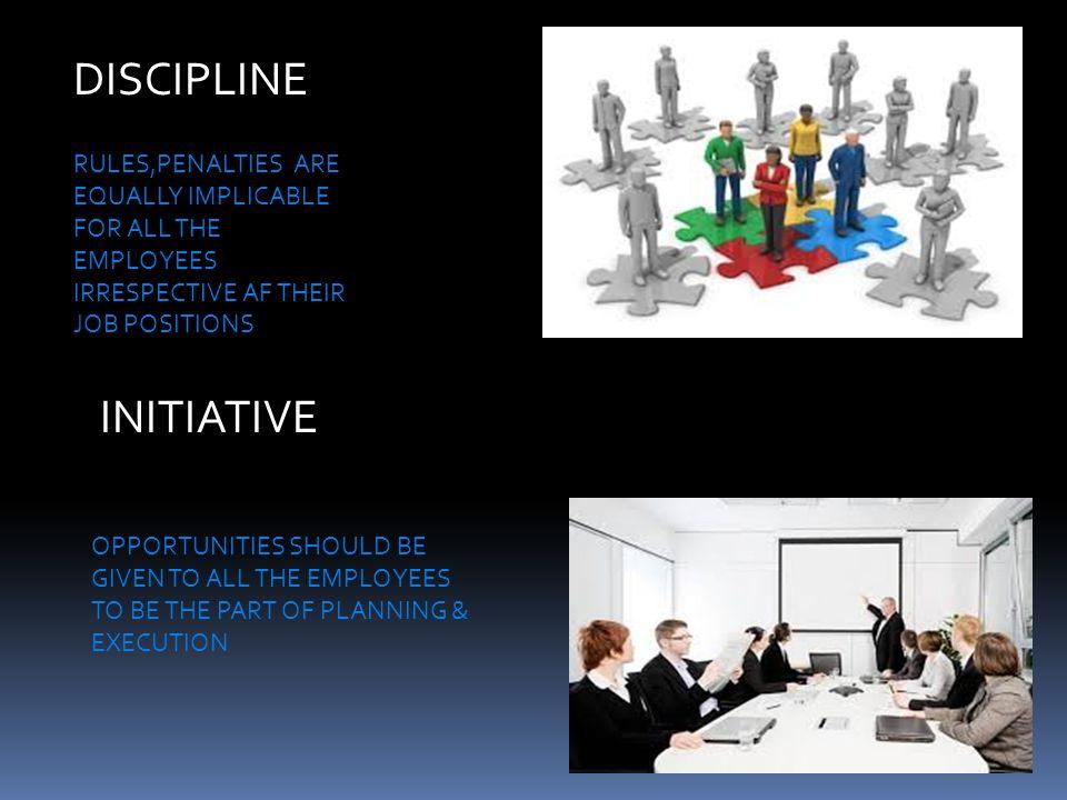 DISCIPLINE INITIATIVE