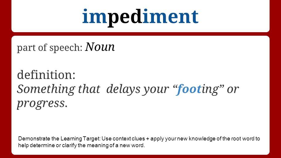 Impediment Definition: