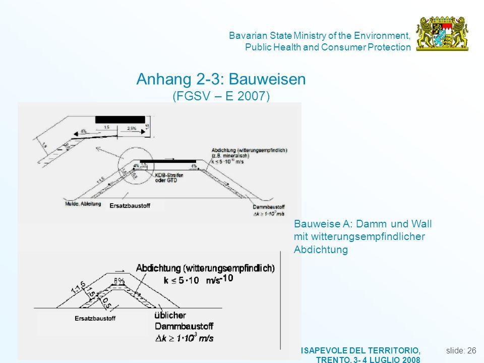 Anhang 2-3: Bauweisen (FGSV – E 2007)
