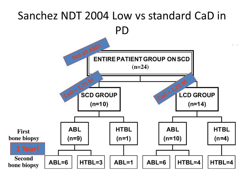 Sanchez NDT 2004 Low vs standard CaD in PD