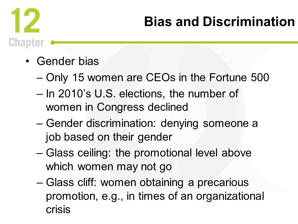 "gender bias in organizations Catalyst, a nonprofit research organization, released a study in 2014 in which   change lies in what she calls ""second-generation gender bias."