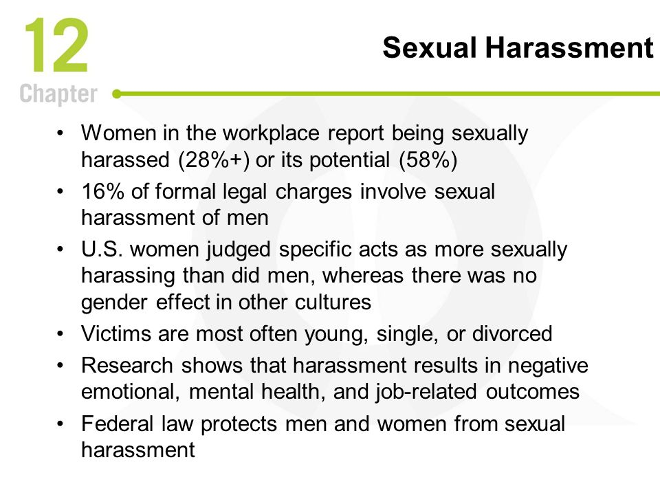 Men as victims sexual harassment