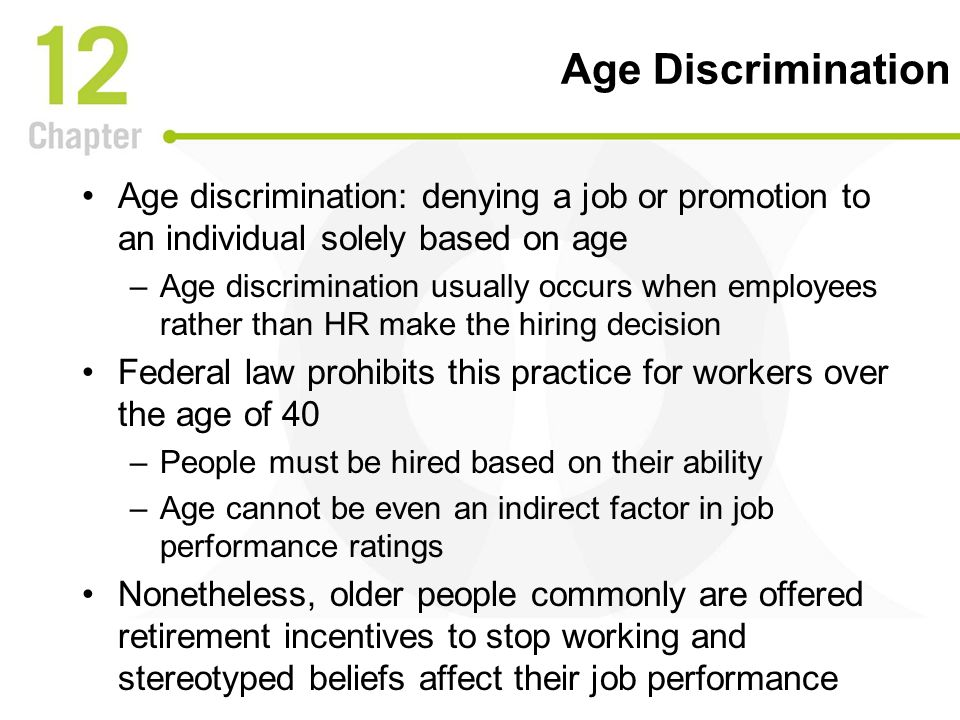 The trend of age discrimination in