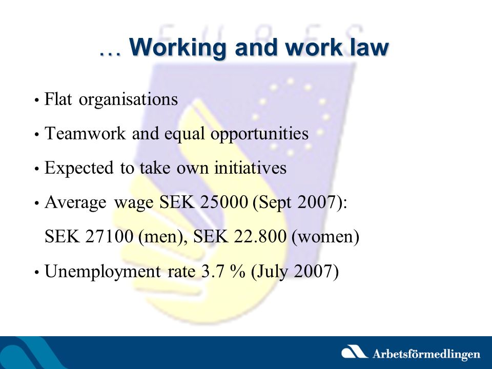… Working and work law Flat organisations