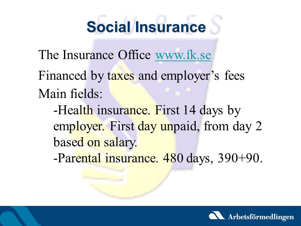 Social Insurance The Insurance Office www.fk.se