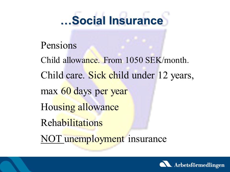 …Social Insurance Pensions