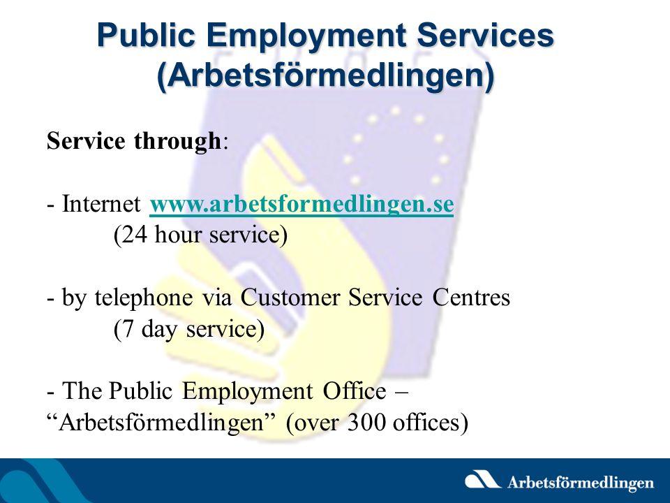 Public Employment Services (Arbetsförmedlingen)