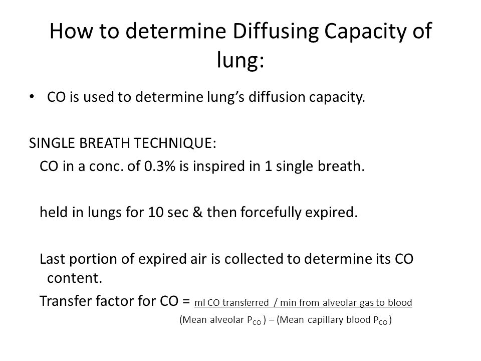 determining lung capacity Background: accurate measurement of lung volumes is of paramount importance to establish the presence of ventilatory defects and give.