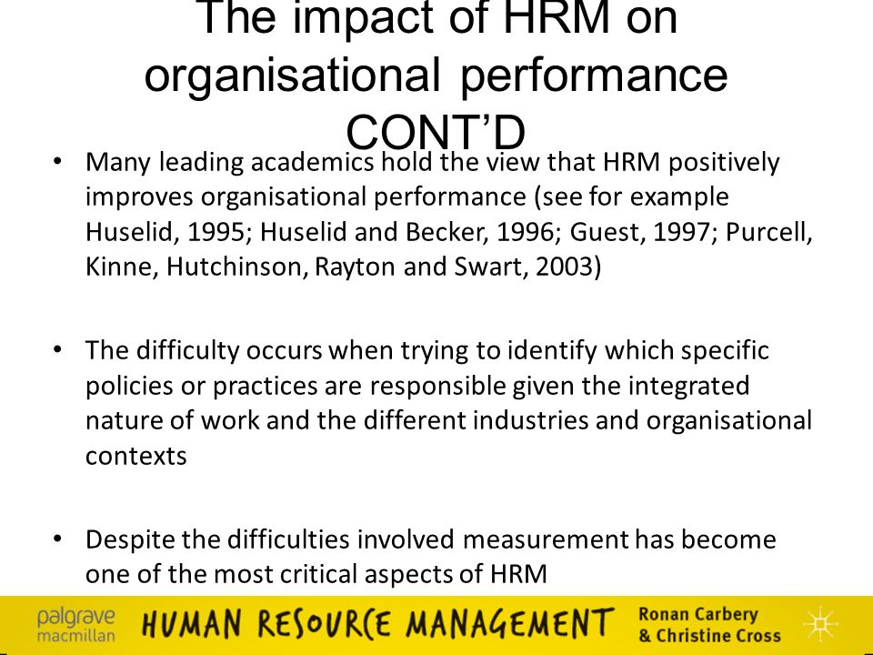 the impact of human resource management
