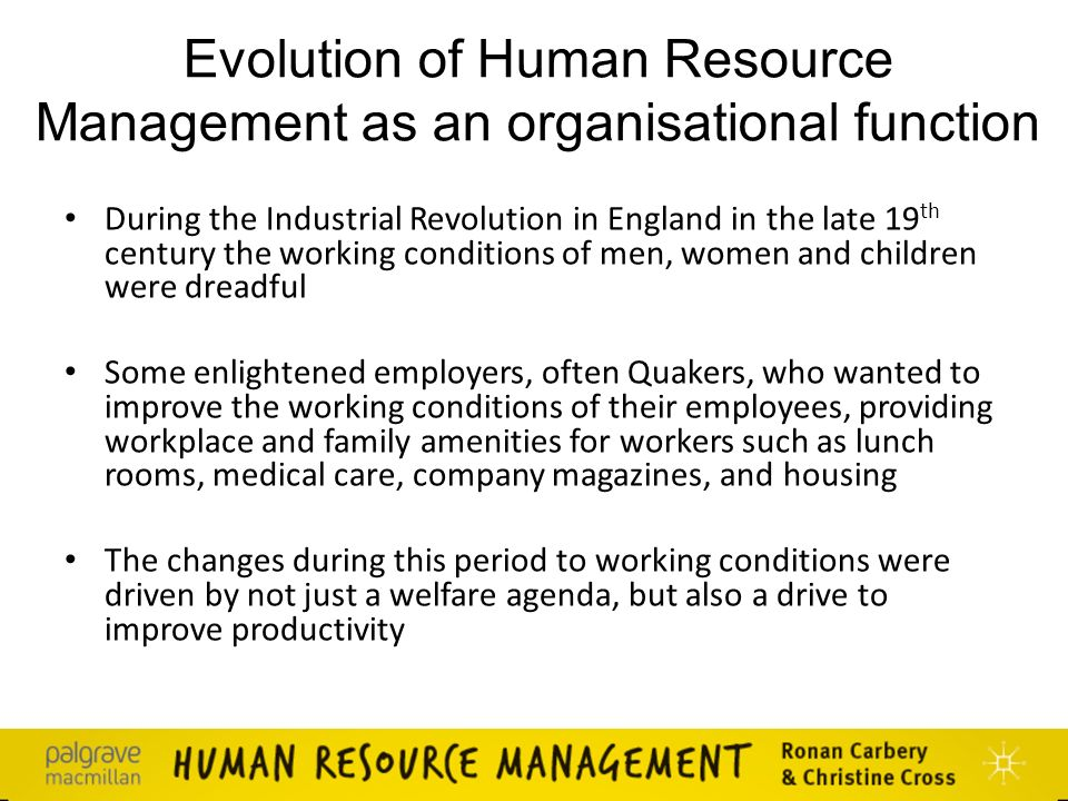 industrial revolution human resource management Strategic human resource management within the pharmaceutical industry: • society of human resource management industrial revolution had swept through.