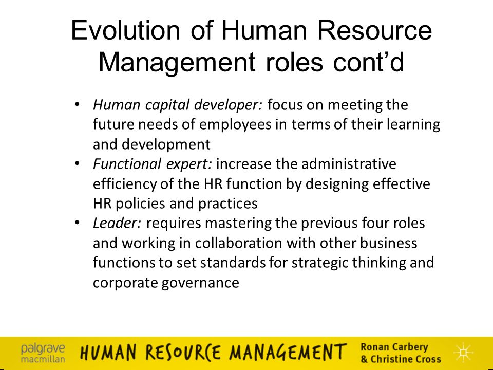 human resources management roles The human resource management review (hrmr) is a quarterly academic journal devoted to the publication of scholarly conceptual/theoretical articles.