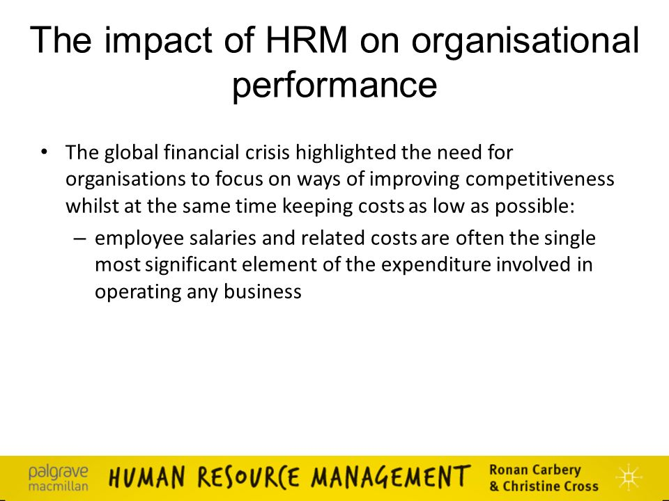 performance of hrm In recent years, us companies have been urged to adopt a variety of  performance-enhancing or progressive human resource management (hrm)  practices to.