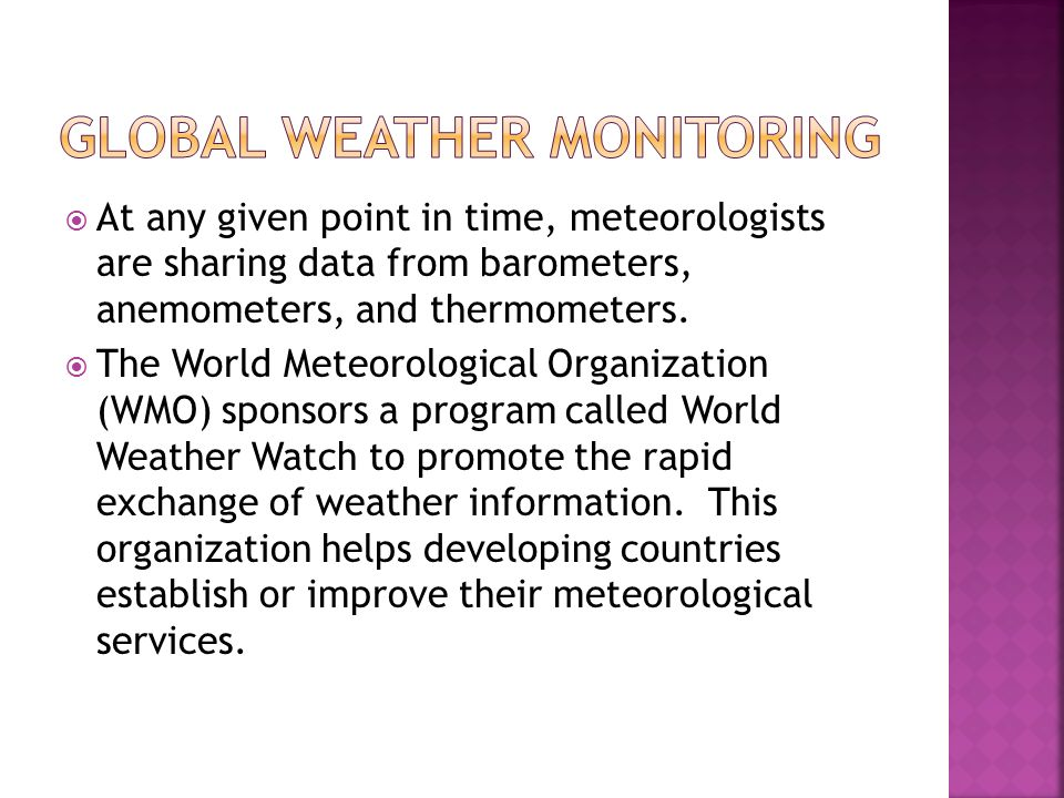 Global Weather Monitoring