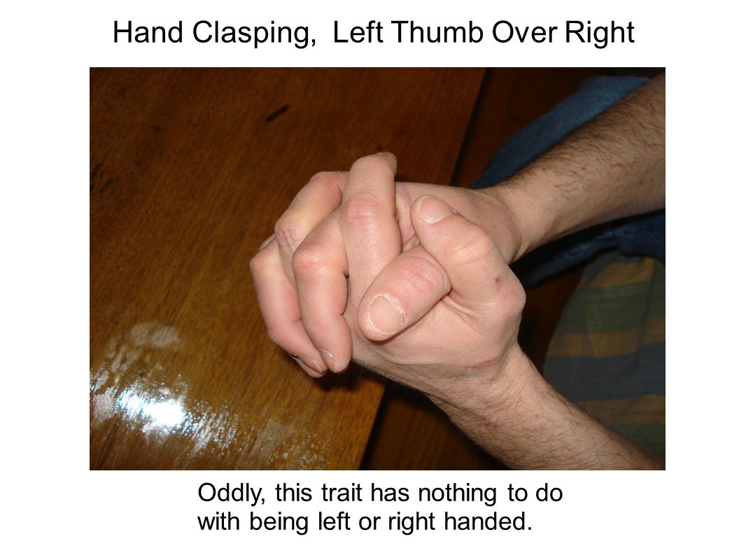 thumb right left over