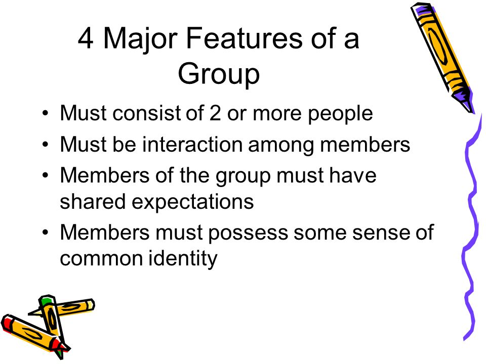 4 Major Features of a Group