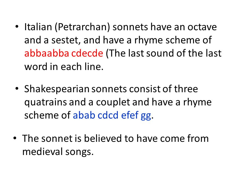 how to write an italian petrarchan sonnet