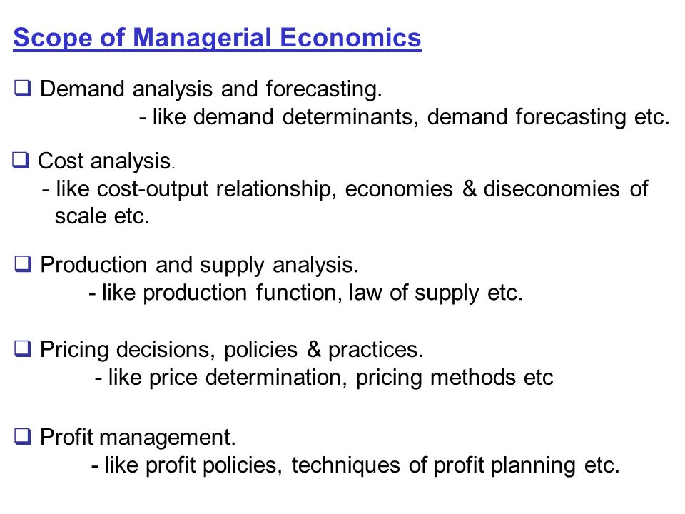 managerial economics supply and demand Demand economics the  successful  when we bring demand and supply together we create a framework  mba 555, managerial economics & decision analysis.