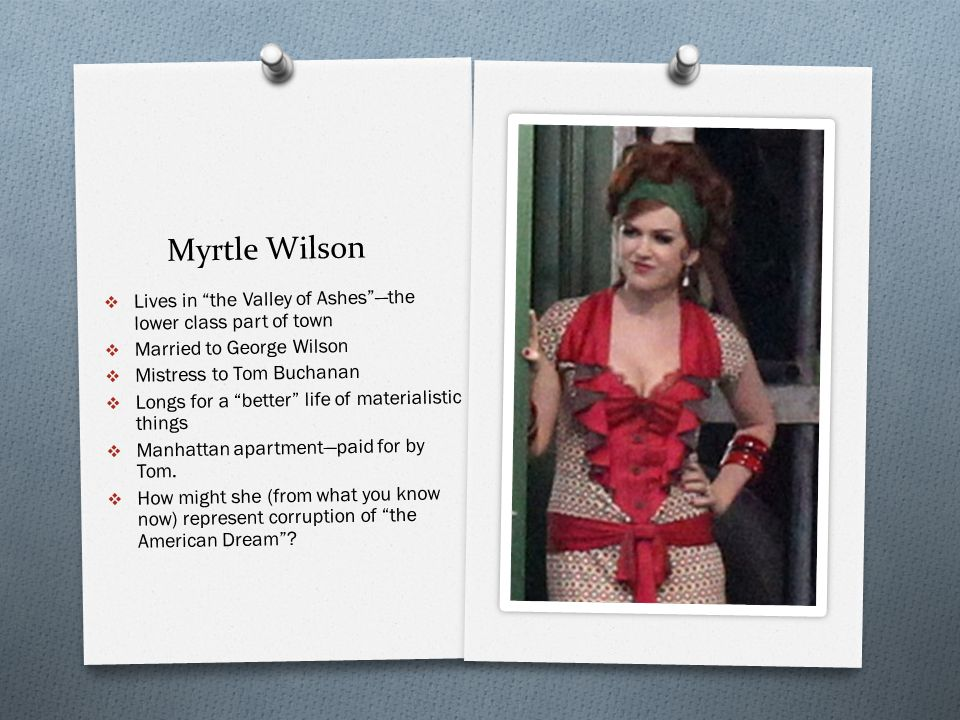 myrtle wilson themes of class and The great gatsby: background, themes, plot summary, nick carraway, daisy,   myrtle wilson: tom buchanan's sensuous mistress who lives in a lower-class.