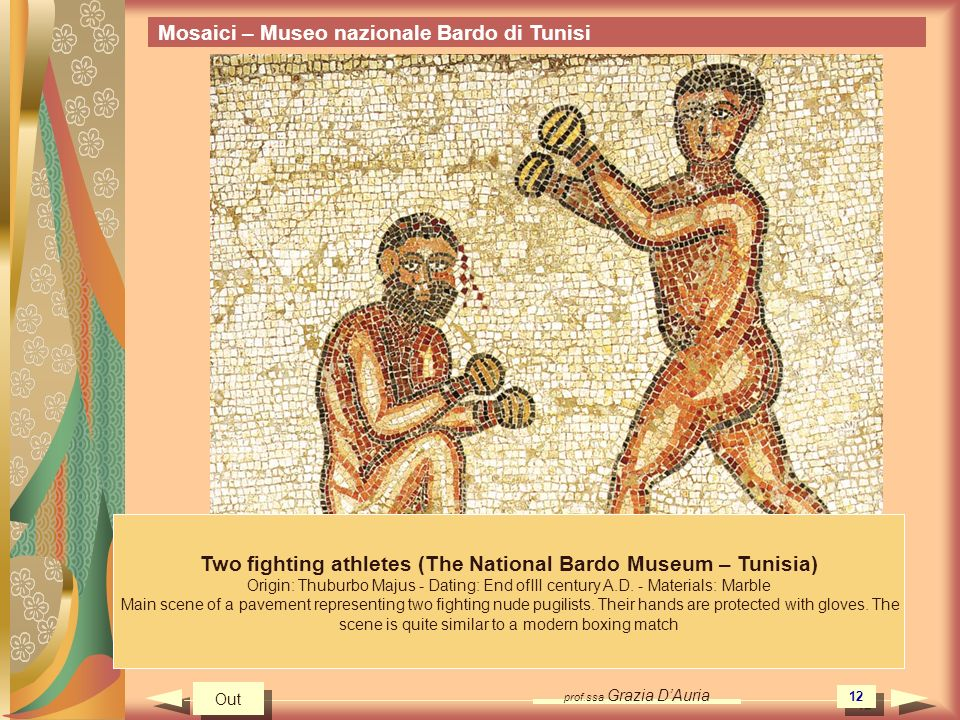 Two fighting athletes (The National Bardo Museum – Tunisia)