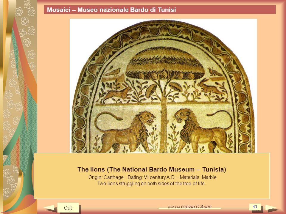 The lions (The National Bardo Museum – Tunisia)