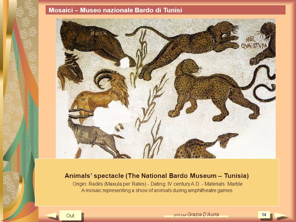 Animals' spectacle (The National Bardo Museum – Tunisia)