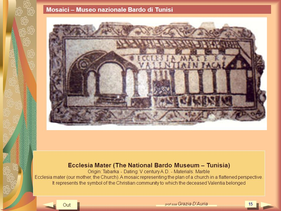 Ecclesia Mater (The National Bardo Museum – Tunisia)