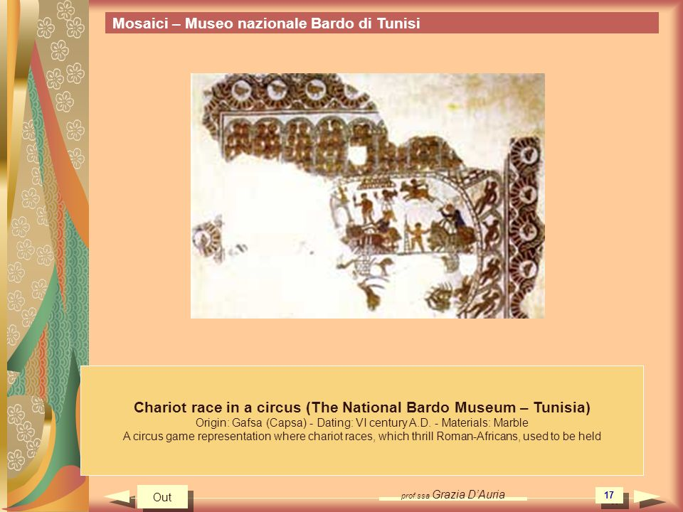 Chariot race in a circus (The National Bardo Museum – Tunisia)