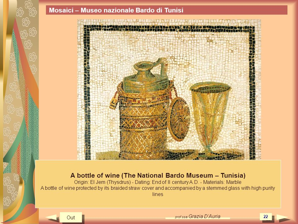 A bottle of wine (The National Bardo Museum – Tunisia)