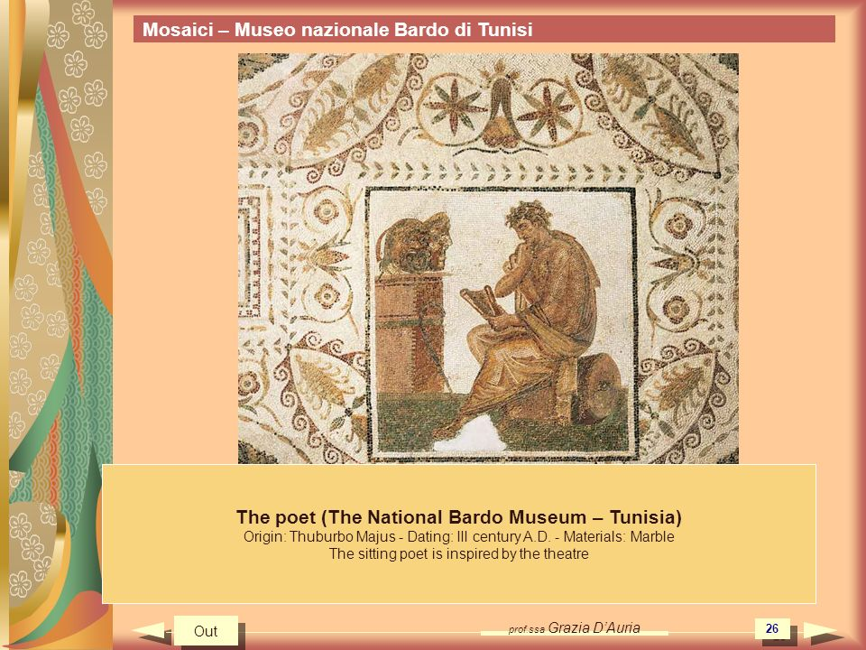 The poet (The National Bardo Museum – Tunisia)