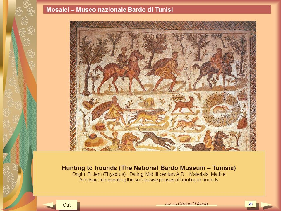 Hunting to hounds (The National Bardo Museum – Tunisia)
