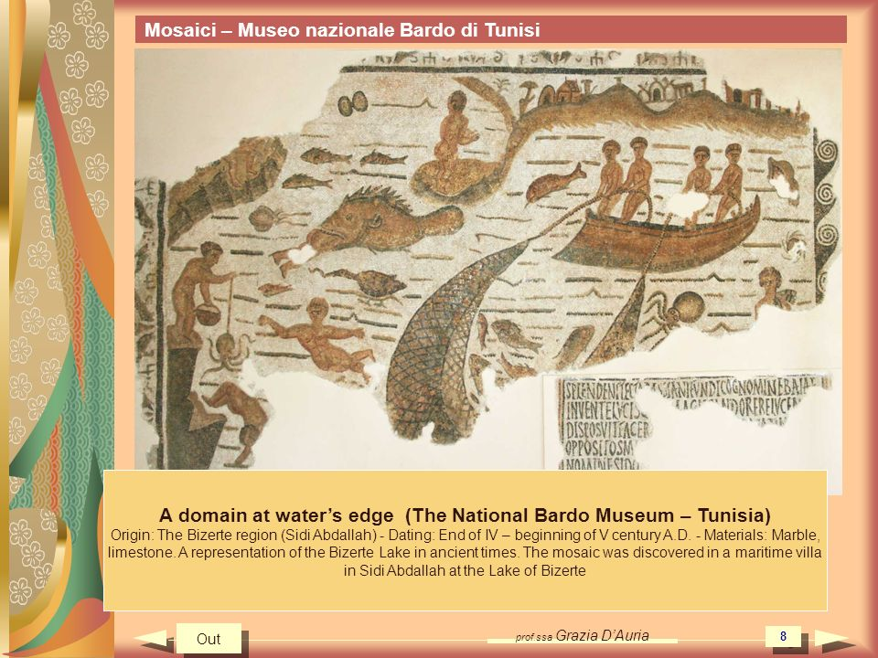 A domain at water's edge (The National Bardo Museum – Tunisia)