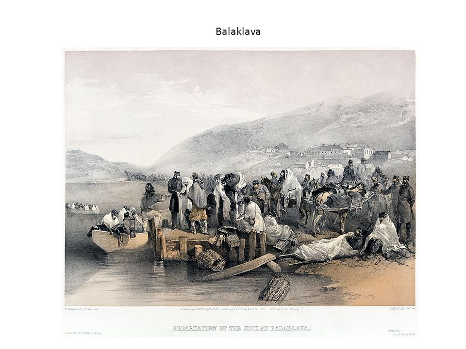 Balaklava A tinted lithograph by William Simpson illustrating conditions of the sick and injured in Balaklava.