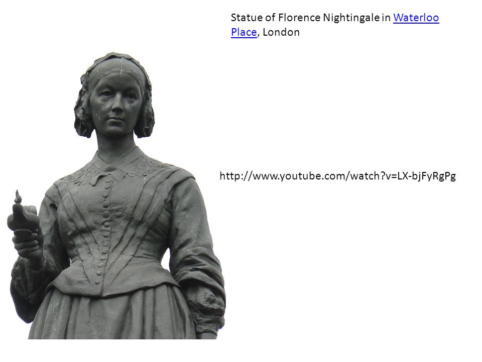 Statue of Florence Nightingale in Waterloo Place, London