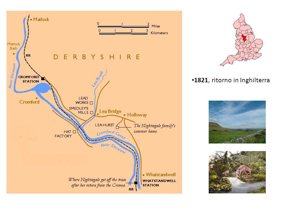 1821, ritorno in Inghilterra
