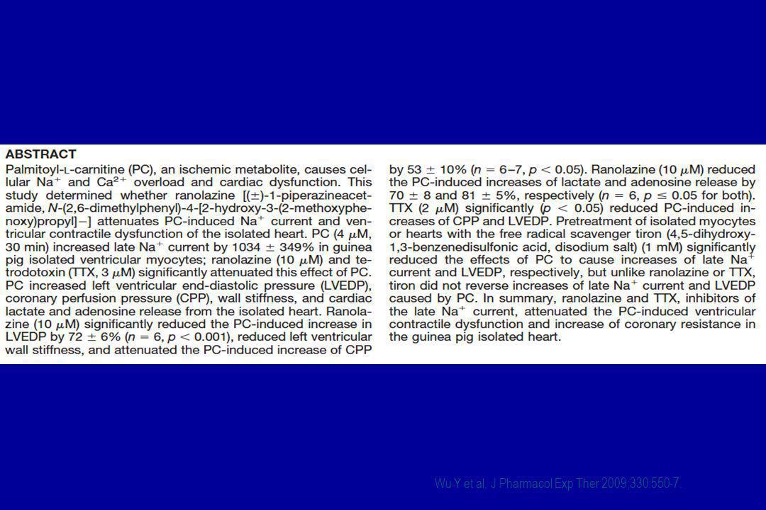 Wu Y et al. J Pharmacol Exp Ther 2009;330:550-7.