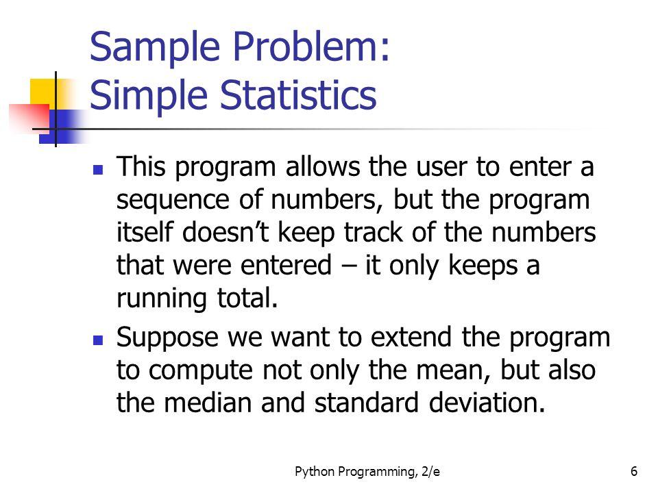 statistics problem sample