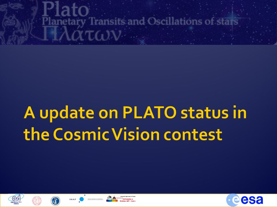 A update on PLATO status in the Cosmic Vision contest
