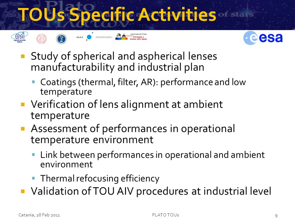 TOUs Specific Activities