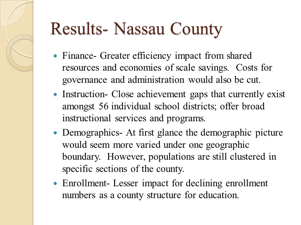 Single point of access nassau county application