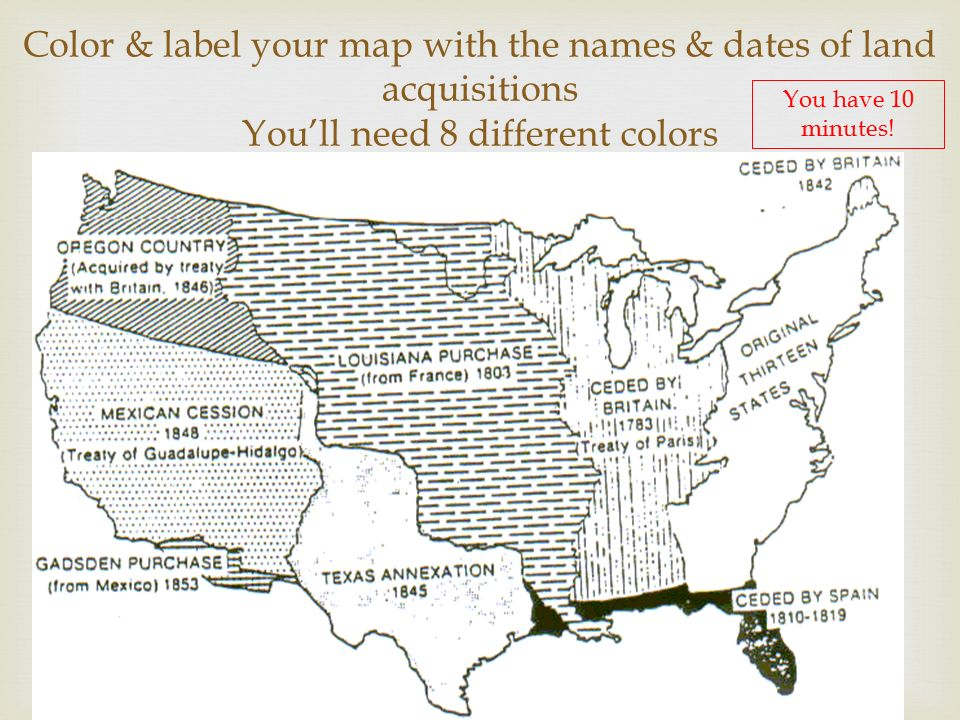 Unit Westward Expansion Ppt Video Online Download - Us map to color and label