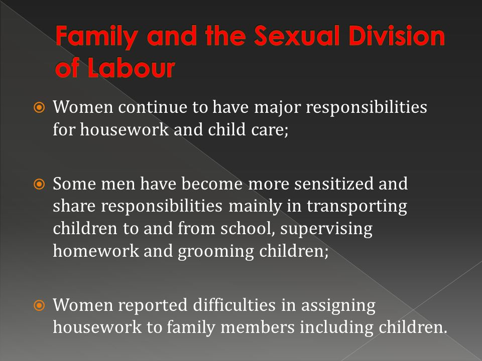 Family and the Sexual Division of Labour