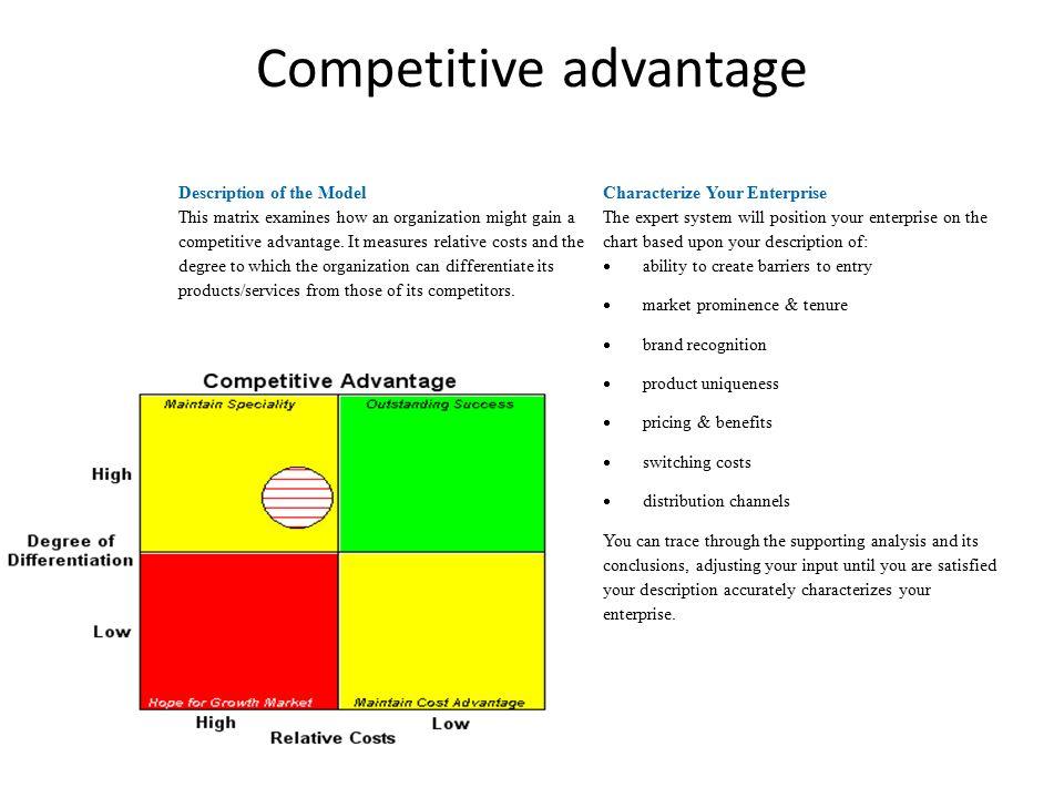 competitive advantage paper