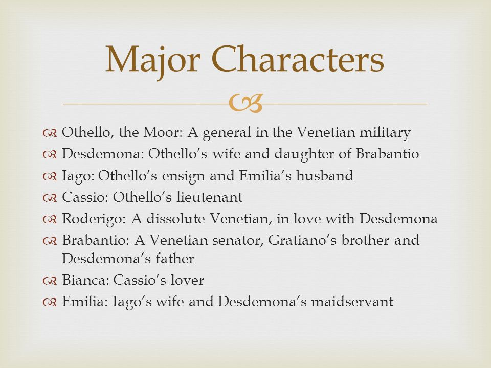 a comparison between desdemona and emilia in shakespeares othello Desdemona vs emilia essaysdesdemona, the bride of othello, and emilia, the wife of the villain iago, are the two principal female characters in shakespeare's othello.