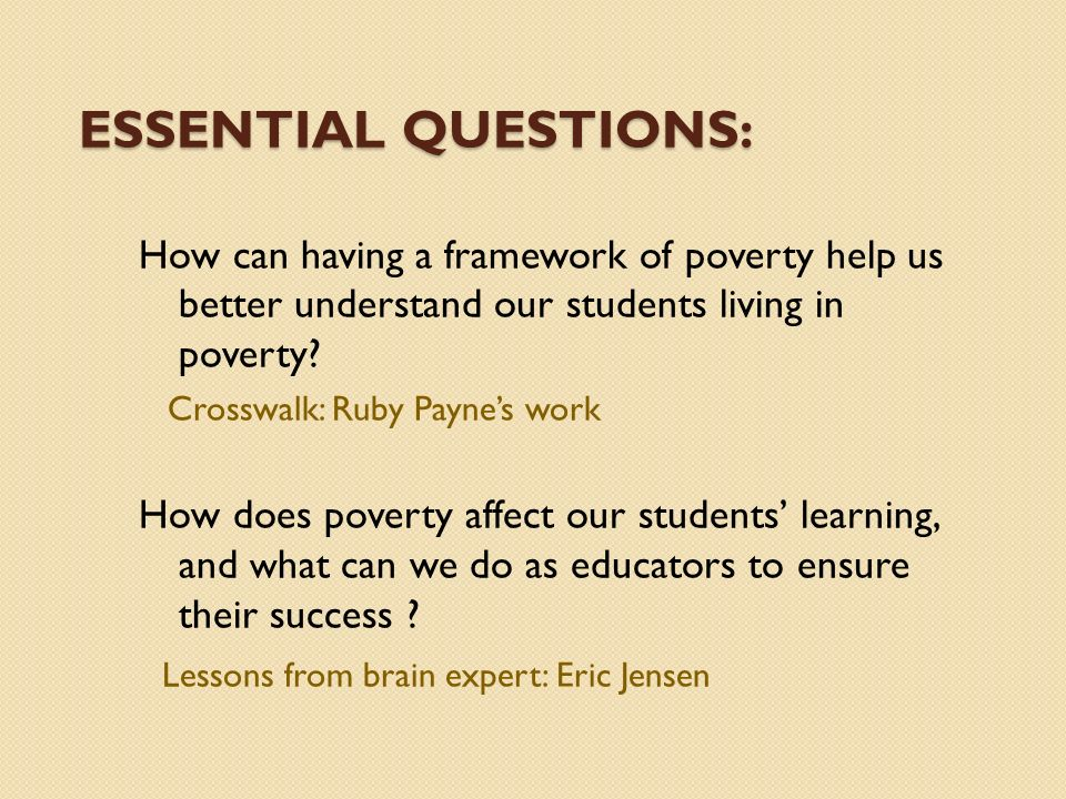 poverty affects student education