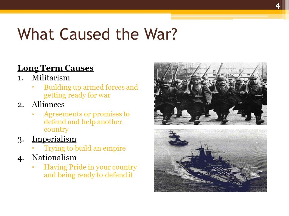 The Short Term Causes of World War One