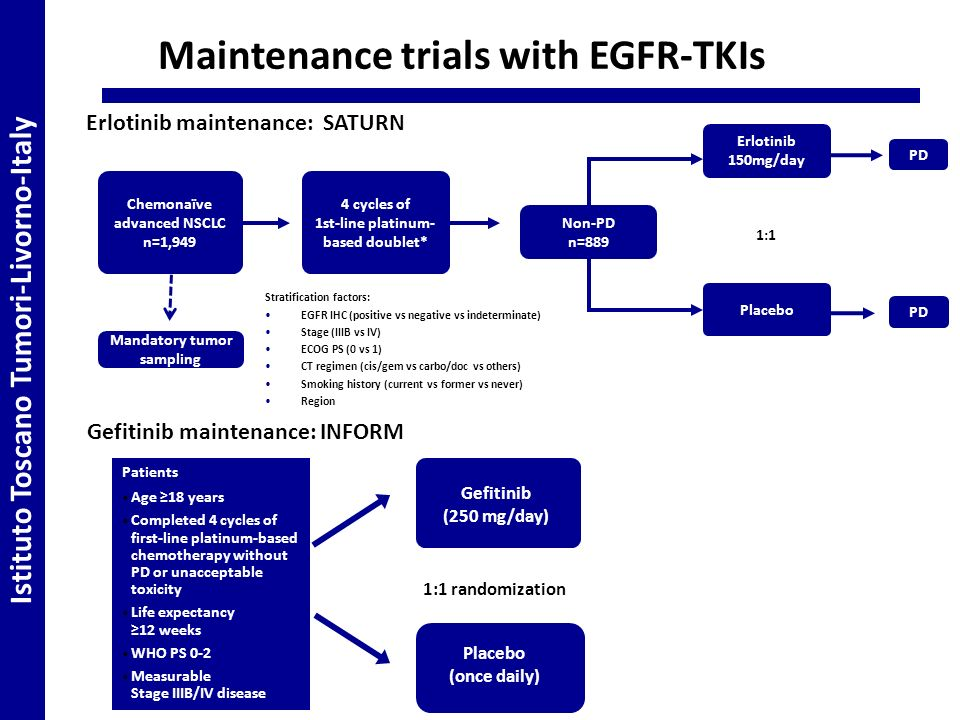 Maintenance trials with EGFR-TKIs