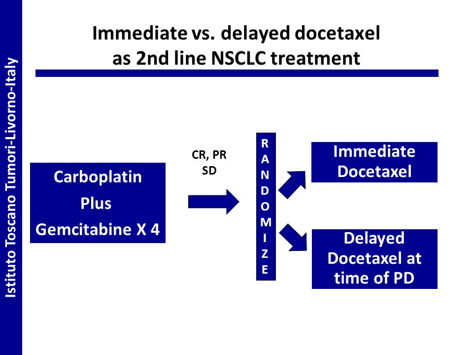 Immediate vs. delayed docetaxel as 2nd line NSCLC treatment