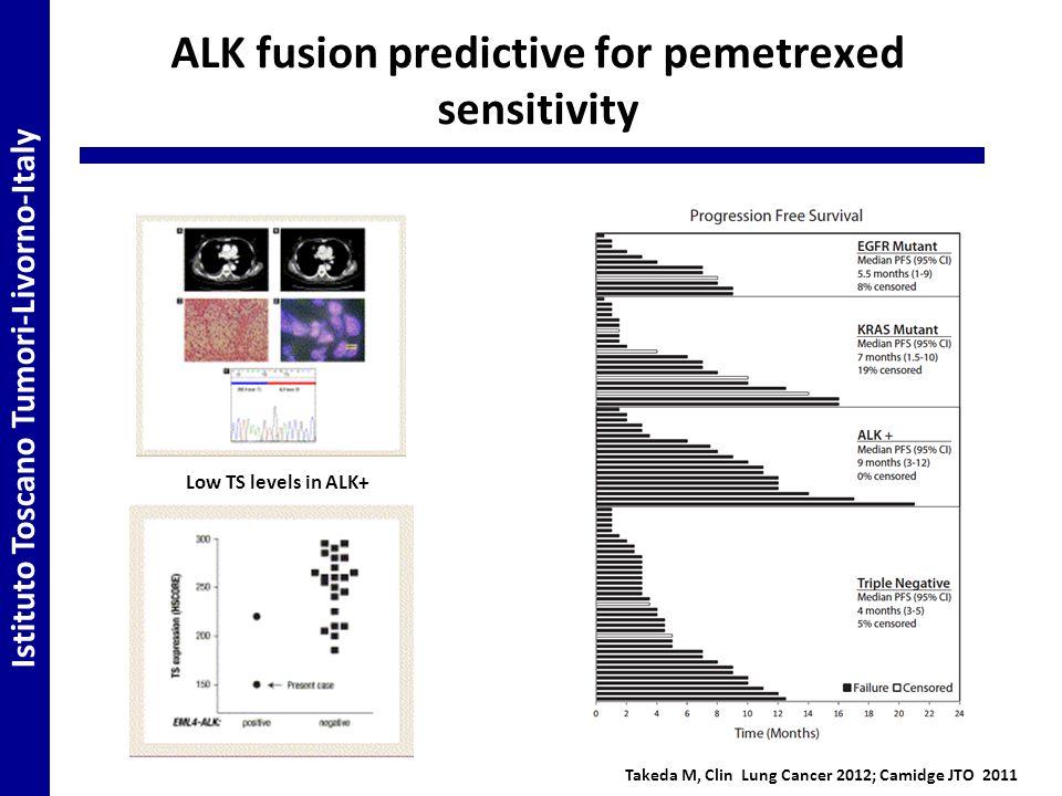 ALK fusion predictive for pemetrexed sensitivity