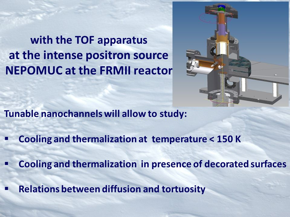 at the intense positron source NEPOMUC at the FRMII reactor