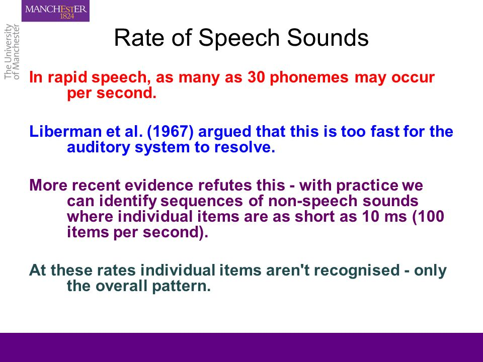 Speech and the HearingImpaired Child Theory and Practice